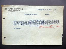 Fattura Odoardo Muratori Premiata Fabbrica Salumi Formigine Modena 1932 - Non Classificati