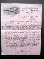 Fattura Silvio Origgi Lissone Monza Lavorazione Carni Salate Affumicate 1930 - Non Classificati