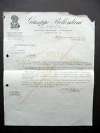 Fattura Giuseppe Bellentani Salumi Per Esportazione Modena 4/12/1935 - Non Classificati
