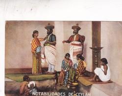 NOTABILIDADES DE CEYLAN. TE RATANPURO, TRAJE NACIONAL FOLK DRESSED SRI LANKA. NON CIRCULEE CIRCA 1910s - BLEUP - Kostums