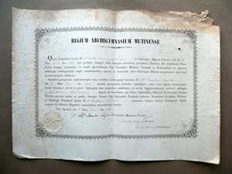Patente Chirurgia Maggiore Scaravelli Correggio Università Estense Modena 1858 - Non Classificati