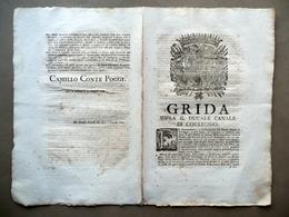 Grida Sopra Il Ducale Canale Di Correggio Conte Poggi Modena 1768 Manutenzione - Non Classificati