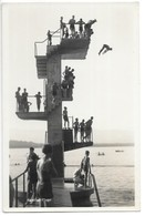 Genève-plage....le Plongeoir......animée...cpsm .. Années 50/60... - GE Genève