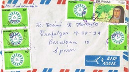 31134. Carta Aerea TAYTAY (Rizal) Filipinas  1983 To Spain - Filipinas