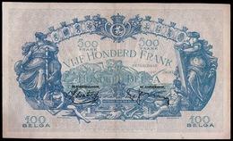 500 FRANK OF HONDERD BELGA  15 AVRIL 1939   MOOIE STAAT    2 SCANS  - - [ 2] 1831-... : Royaume De Belgique