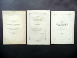 3 Opuscoli Lazzaro Aloisio Luigi Spallanzani Scandiano Monumento Memoria 1873-88 - Non Classificati