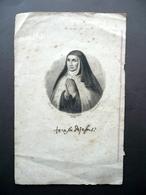 Incisione S. Teresa De Jesus Autografo Fac Simile Dal Vero Modena Religione - Non Classificati