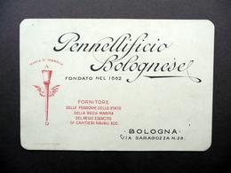 Pennellificio Bolognese Via Saragozza 28 Bologna Cartoncino Pubblicità Anni '30 - Non Classificati
