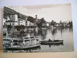 1960 - Varese - Porto  Ceresio - Lago Di Lugano - Barche - Giovani Marinai - Animata - Cartolina D'epoca - Varese