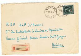Front Van Brief Naar Caserne énéral Baron Dassin  De St.Georges Mechelen - WW II