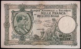 1000 FRANK OF 200 BELGA  15 AVRIL 17_04_43   MOOIE STAAT    2 SCANS  - - [ 2] 1831-... : Royaume De Belgique