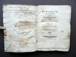 Discorso Intorno Alla Giurisdizione Principi Magistrati Secolari Friburgo 1768 - Libri, Riviste, Fumetti