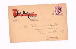 """""""Sint Antonius College,Lokeren"""".Expédié à Namur. - 1935-1949 Petit Sceau De L'Etat"""