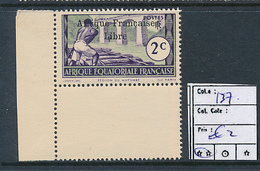 AEF FRANCE LIBRE MAURY DALLAY 137 MNH SANS CHARNIERE - A.E.F. (1936-1958)