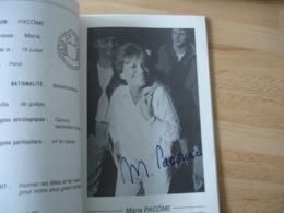 Autographe Signature Manuscrite  Maria Pacome Fncois Perrot Stephen Hillel Sur Programme Theatre - Autographes