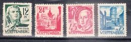 WURTTEMBERG - Petite Collection De 4 Timbres - TOP AFFAIRE - Zone Française