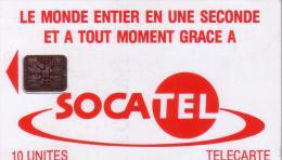 CENTRAFRICAINE SOCATEL 10U UT ROUGE N° 000543 RARE - Central African Republic