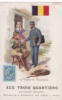 LA  POSTE  EN  BELGIQUE ,,, PUB  AUX  TROIS  QUARTIERS   PARIS ,,,,, , Rare Avec La Pub - Poste & Facteurs