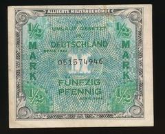 IN UMLAUF GESETZT IN DEUTSCHLAND FÜNZIG PFENNIG       2 SCANS  - - 1945-1949: Alliierte Besatzung
