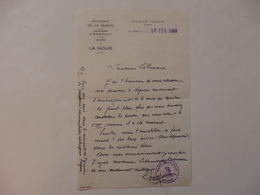 Lettre De La Mairie De La Noue (51). Le Maire écrit à Mme Lallemand Pour Pouvoir Pour L'aménagement La Route Du Moulin. - France