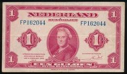 EEN GULDEN 1943         2 SCANS  - - [2] 1815-… : Royaume Des Pays-Bas