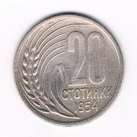 20 STOTINKI 1954   BULGARIJE /0258/ - Bulgarie