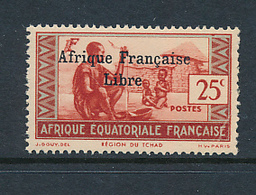 AEF FRANCE LIBRE MAURY DALLAY 143 MNH SANS CHARNIERE PARAFIN GUM - A.E.F. (1936-1958)