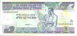 Ethiopia    5 Birr  2017  UNC - Ethiopie