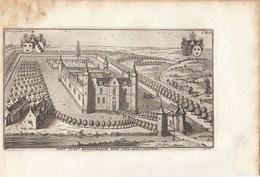 Originele Kopergravure Kasteel Van HOLLAKEN Bonheiden Rijmenam J.Le Roy Gegraveerd Door Harrewijn 18de Eeuw (J87) - Documents Historiques