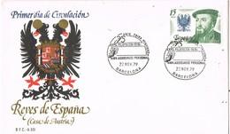 31144. Carta Exposicion. BARCELONA 1979. Aniversario Caixa Pensions. LA CAIXA - 1931-Hoy: 2ª República - ... Juan Carlos I