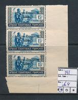 AEF FRANCE LIBRE MAURY DALLAY 141 MNH SANS CHARNIERE - A.E.F. (1936-1958)