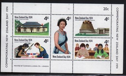 New Zealand 1974 Sheetlet Containing Five Stamps To Celebrate New Zealand Day. - Blocks & Sheetlets