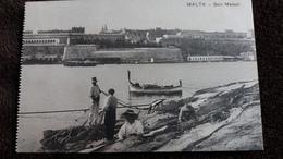 CPA MALTA MALTE SAIN MAISON PECHEURS ANIMATION  01587 - Malta