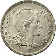 Monnaie, SPAIN CIVIL WAR, EUZKADI, Peseta, 1937, Bruxelles, SUP, Nickel, KM:1 - Republican Location