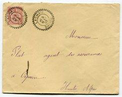 RC 11221 FRANCE MOUCHON LACHAU DROME FACTEUR BOITIER SUR LETTRE 1903 TB - Postmark Collection (Covers)