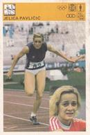 JELICA PAVLICIC CARD-SVIJET SPORTA (B310) - Atletica