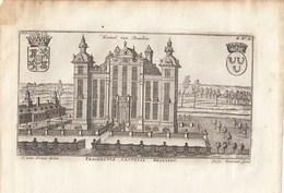 Originele Kopergravure Kasteel Van BEAULIEU Machelen J.Le Roy 18de Eeuw (J82) - Documents Historiques