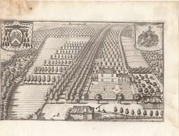 Originele Kopergravure Kasteel Van BERENTRODE Bonheiden J.Le Roy 18de Eeuw (J83) - Documents Historiques