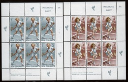New Zealand 1972 Health Issue Children Playing Tennis Mini Sheet. - Blocks & Sheetlets
