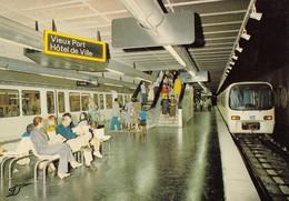 MARSEILLE : LE METRO De MARSEILLE, La Station Vieux-Port - Hôtel De Ville - Autres