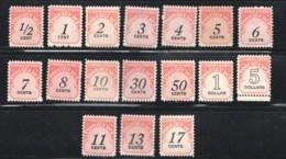 POSTAGE DUE  1959-85 Complete Sets  To $5  SC J88-104  MNH - Taxe Sur Le Port