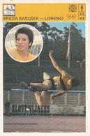 BREDA BABOSEK-LORENCI CARD-SVIJET SPORTA (B326) - Atletica