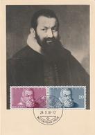 Carte Maximum - Samuel Hofmann - Portrait De Johann Rudolf Wettstein - Switzerland