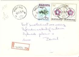 Belgique 1976 - Lettre Recommandée De MOORSEL - Brabant Flamand - Cob 1623/1797A X 2 - Belgique