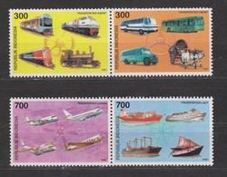 Indonesia Indonesie 1794-1797 MNH ; Vliegtuig Flugzeuge Avion Aeroplane Train Trein Auto Car Boat Boot Bus Ship Schip - Vliegtuigen