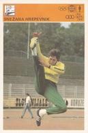 SNEZANA HREPEVNIK CARD-SVIJET SPORTA (B335) - Atletica