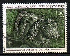 """FRANCE. N°1478 Oblitéré De 1966. Vase """"Cratère De Vix""""/Cheval. - Archéologie"""