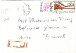 Belgique 1976 - Lettre Recommandée De NINOVE - Flandre Orientale - Cob 1748/1825 - Belgique