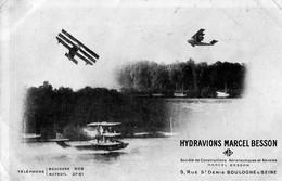 92 - Boulogne Sur Seine : AVIATION - Hydravion Marcel BESSON - Constructions Aéronautiques - Boulogne Billancourt