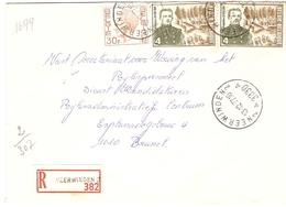 Belgique 1976 - Lettre Recommandée De NEERWINDEN - Brabant Flamand - Cob 1649/1726 X 2 - Belgique